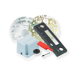 collection of injection moulded parts