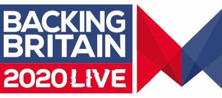 backing britain 2020 live logo